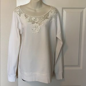 Lucky Brand Sweatshirt with Embroidered Detail
